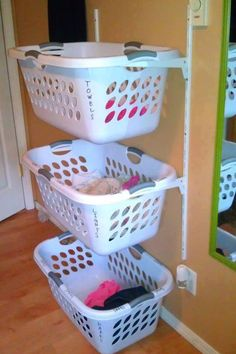 Laundry room organizing.