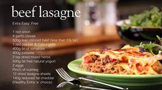Usually packed with high fat cheese and creamy béchamel sauce, regular lasagne can be disappointingly high in Syns - but you can enjoy this healthy Slimming ...