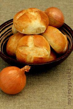 ki z cebulk? Bread Jam, Bread Rolls, Onion Tart, Polish Recipes, Bread Baking, Muesli, Food For Thought, Scones, Food Porn