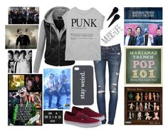 """""""random band reveiw Marianas Trench check the d"""" by savie-that-punk-rock-kid ❤ liked on Polyvore featuring rag & bone/JEAN, LE3NO, Bershka, Vans and Nasty Gal"""