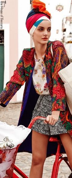 ~Hermes handbag- Marie Claire March 2013 editorial   House of Beccaria# SER pin to Hermes & scarf only!!