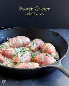Boursin Chicken with Prosciutto | EricasRecipes.com
