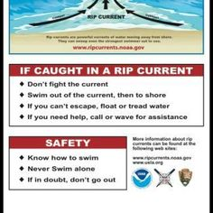 Important beach safety tips.