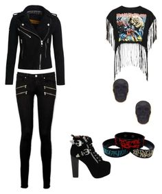 """""""Edgy outfit for @jollyrancher-awesome"""" by ilovefashion333 ❤ liked on Polyvore featuring Superdry, Jeffrey Campbell, Paige Denim, Topshop and Charles Albert"""