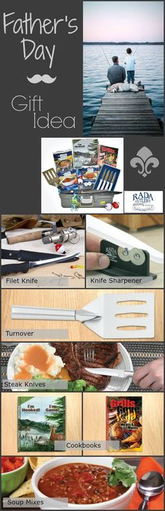 "He didn't tell me how to LIVE, he LIVED and let me WATCH him do it!   ""My husband loves your knives and sharpener,"" wrote one Rada fan. ""I would love to get him some new ones. They last a long time, and I just think they would make a great gift."" #fathersday #dad #gift"