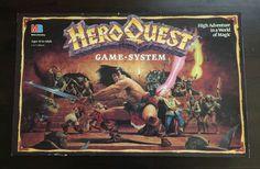 VINTAGE HERO QUEST FANTASY GAME BOARD SYSTEM RARE MB MILTON BRADLEY