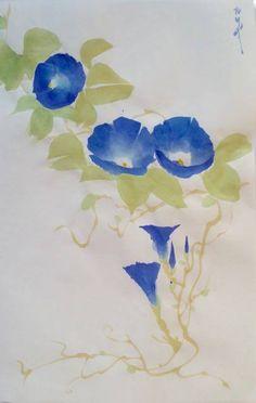 Painting Climbing Plants - Wisteria, Morning Glory & Gourd - סדנת ציור יפני של צמחים מטפסים - ויסטריה, ׳תהילת הבוקר׳ ודלוע https://www.facebook.com/events/772831372845089/
