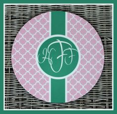 Monogrammed Gifts Personalized Mouse Pad Mousepad by ChicMonogram, $16.00