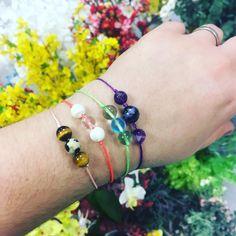 Jednoduché nastavitelné náramky z minerálních korálků Delicate, Bracelets, Jewelry, Bangles, Jewlery, Jewels, Bracelet, Jewerly, Jewelery
