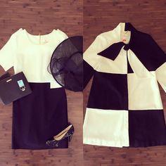 This black & white color block dress and matching jacket would be the perfect look for Breeders' Cup! It will be here before you know it!  ‪#‎breederscup‬ ‪#‎ootd‬ ‪#‎shopmonkees‬ ‪#‎monkeesoflou‬