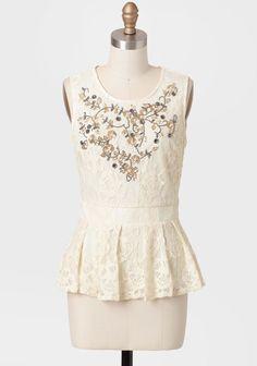 Keep A Secret Embellished Lace Blouse