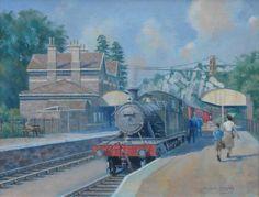 Bristol-Portishead branchline painting, oil on canvas