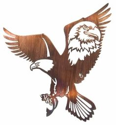 """24"""" Provider Scene Eagle with Fish Metal Wall Art by Kathryn Darling"""