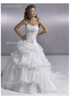 flowery Strapless Wedding Dresses 2012