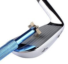 Golf Club Groove Sharpener with 6 Heads - Ideal for Optimal Backspin and Ball Control - Perfect Tool for Wedges and Utility Clubs