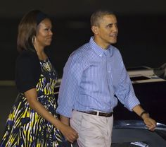 The President and First arrived at Joint Base Pearl Harbor-Hickam in Honolulu, Hawaii last Friday. The Obama family will spend their annual holiday vacation in Hawaii, returning to Washington on January 5. (via Aloha - Home - Mrs.O - Follow the...