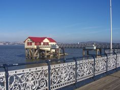 Lifeboat house off Mumbles Pier by alexliivet, via Flickr