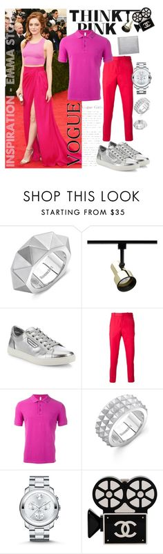 """""""Met Gala 2014: Emma Stone - Inspiration"""" by tristan-fraser ❤ liked on Polyvore featuring Room101, Juno, Dolce&Gabbana, Alexander McQueen, SUN68, Movado, Chanel, Yves Saint Laurent, men's fashion and menswear"""