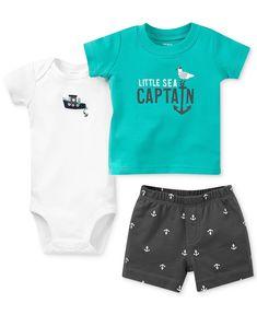 Carter's Baby Boys' 3-Piece Bodysuit, Tee & Shorts Set - Kids Baby Boy (0-24 months) - Macy's