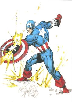 Carlos Pacheco - Captain America Comic Art