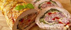 Pieczeń świąteczna Pyszna i kolorowa rolada schabowa faszerowana mielonym mięsem, żółtym serem i warzywami. Wspaniale smakuje zarówno na ciepło, jak i jako zimna przekąska. Polecam!   Składniki: 1,5 kg schabu bez kości 0,5 kg wieprzowego mięsa mielonego (najlepiej grubo mielonego) 1 pęczek pietruszki pół czerwonej papryki pół czerwonej cebuli 4 – 6 plasterków żółtego … Pork Recipes, Cooking Recipes, Homemade Sandwich, Kebab, Good Food, Yummy Food, Xmas Food, Polish Recipes, Easter Recipes