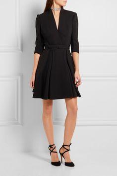 Alexander McQueen | Belted wool and silk-blend dress | NET-A-PORTER.COM