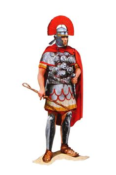 This is a Roman Centurian, we know this because only Centurians can wear read and his plume sits across his head.