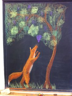 Fox and Grapes, grade 2, Waldorf School of Atlanta.
