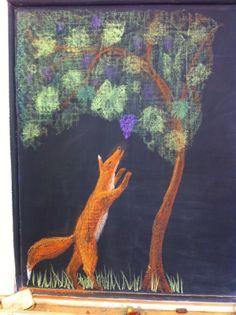 Fox and Grapes, grade 2, Waldorf School of Atlanta.