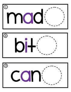 Free activity to help kids practice reading words with a long vowel/silent e pattern ~ Handy!