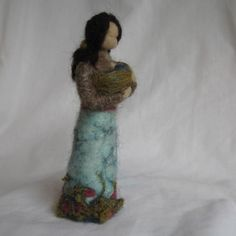 Needle Felted Mama With Child In A Sling by haddy2dogs on Etsy, $40.00