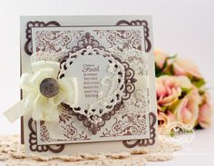 Card Making Ideas by Becca Feeken using JustRite Congrats Vintage Labels Three and Seven