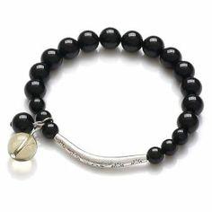 Honeystore Women's Citrine AA Black Tourmaline Tibetan Silver Stretch Bracelet Color Black