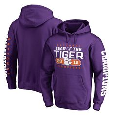 Clemson Tigers Fanatics Branded College Football Playoff 2016 National Champions Play Action Pullover Hoodie - Purple