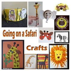 Going on a Safari crafts, activities, games, and emergent readers for preschool and kindergarten Safari Animal Crafts, Jungle Crafts, Animal Crafts For Kids, Vbs Crafts, Safari Animals, Toddler Crafts, Crafts For Teens, Preschool Crafts, Preschool Themes