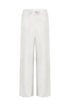 Lisa Long Pants - S / Pearl White