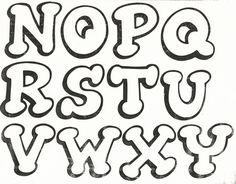 diseño de letras para carteles - Buscar con Google Hand Lettering Alphabet, Alphabet Stencils, Doodle Lettering, Graffiti Alphabet, Creative Lettering, Graffiti Font, Monogram Alphabet, Bubble Letters, Alphabet And Numbers