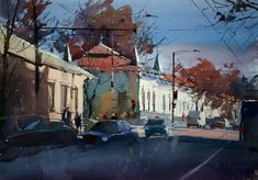 Watercolor Cityscape by Eugen Chisnicean - ego-alterego.com