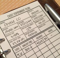 @sewmuchcrafting Debt repayment organization sheets