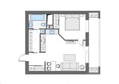 Двушка из однушки 50 м² для творческой девушки – Красивые квартиры