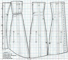 1910s corset pattern and instructions