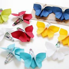 "Just Adorable!!! a pair of 2"" fabric butterflies on a hair snap clip. Available in many colors! Such pretty little butterflies that will add the final touch to any outfit. These gorgeous little butter"