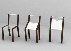 Una pratica sedia con gambe in legno e rifiniture in metallo cromato. Linea molto essenziale con un nuovo gioco di chiusura, che gli permette di richiudersi su se stesse e facilmente impilabili, in modo di ricreare spazio e ordine.