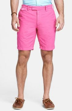 $89, Hot Pink Shorts: Polo Ralph Lauren Hudson Oxford Shorts Ultra Pink 30. Sold by Nordstrom. Click for more info: https://lookastic.com/men/shop_items/54305/redirect
