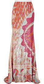 Emilio PucciSequined silk maxi skirt