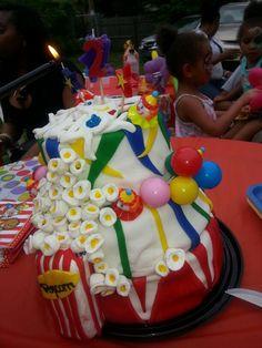 Circus/carnival cake