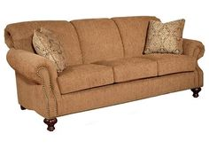 Shop for King Hickory Lana Sofa with Nail, 4200, and other Living Room Sofas at Mooradians Furniture, Inc. in Albany, NY. Seat Cushions: High Resiliency, Throw Pillows: 2 P21, Nail Head Trim: Natural.