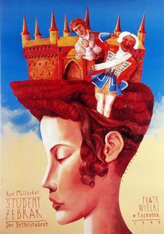 Student zebrak Poster for the opera of Karl Millocker designer: Leszek Zebrowski year: 1999