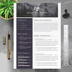 Modern Resume Template, Resume Template Free, Creative Resume Templates, Free Resume, Create A Resume, Job Employment, Resume Words, Thank You Letter, Looking For A Job