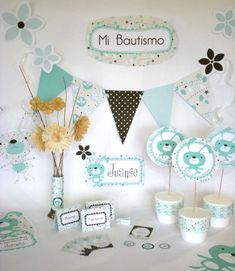 bautismo de varon decoracion - Buscar con Google Baby Shower Deco, Baby Shower Parties, Baby Boy Shower, Ideas Bautismo, Boy Birthday, Birthday Parties, Its A Boy Banner, Elephant Shower, Baby Boy Baptism